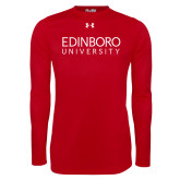 Under Armour Red Long Sleeve Tech Tee-University Wordmark