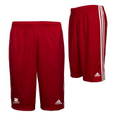 Adidas Climalite Red Practice Short-University Logo Vertical