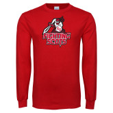 Red Long Sleeve T Shirt-Fighting Scots Athletic Mark