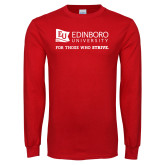 Red Long Sleeve T Shirt-University Logo For Those Who Strive