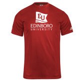 Russell Core Performance Red Tee-University Logo Vertical