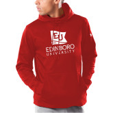 Under Armour Red Armour Fleece Hoodie-University Logo Vertical
