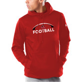 Under Armour Red Armour Fleece Hoodie-Football with Half Ball Arch