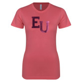 Next Level Ladies SoftStyle Junior Fitted Pink Tee-EU Mark Foil