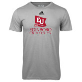Adidas Climalite Sport Grey Ultimate Performance Tee-University Logo Vertical