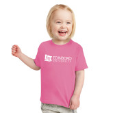 Toddler Fuchsia T Shirt-University Logo Horizontal