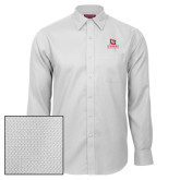 Red House White Diamond Dobby Long Sleeve Shirt-University Logo Vertical