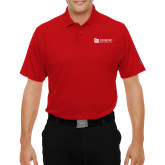 Under Armour Red Performance Polo-University Logo Horizontal