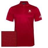 Adidas Climalite Red Grind Polo-University Logo Vertical