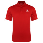 Columbia Red Omni Wick Drive Polo-University Logo Vertical