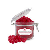 Sweet & Sour Cherry Surprise Small Round Canister-University Logo Vertical
