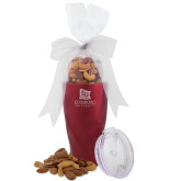 Deluxe Nut Medley Vacuum Insulated Red Tumbler-University Logo Vertical Engraved