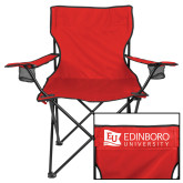 Deluxe Red Captains Chair-University Logo Horizontal