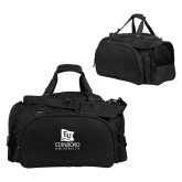 Challenger Team Black Sport Bag-University Logo Vertical