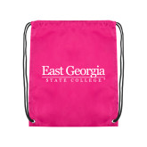 Pink Drawstring Backpack-Primary Mark