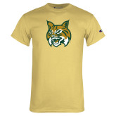 Champion Vegas Gold T Shirt-Bobcat Head