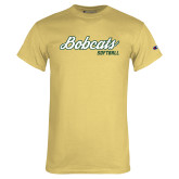 Champion Vegas Gold T Shirt-Softball Script