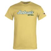 Champion Vegas Gold T Shirt-Softball Script