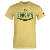 Champion Vegas Gold T Shirt-Softball Plate Design