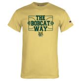 Champion Vegas Gold T Shirt-The Bobcat Way