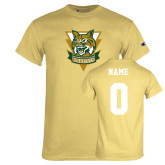 Champion Vegas Gold T Shirt-Primary Athletic Mark, Custom Tee w/ Name and #