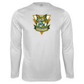 Performance White Longsleeve Shirt-Primary Athletic Mark