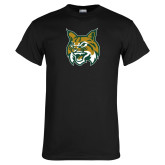 Black T Shirt-Bobcat Head
