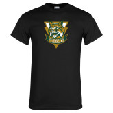 Black T Shirt-Primary Athletic Mark Distressed