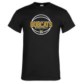 Black T Shirt-East Georgia Basketball In Ball