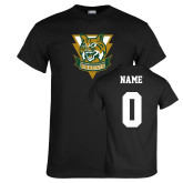 Black T Shirt-Primary Athletic Mark, Custom Tee w/ Name and #