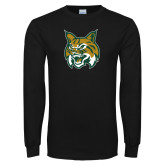 Black Long Sleeve T Shirt-Bobcat Head