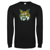Black Long Sleeve T Shirt-Bobcat Head