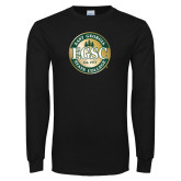 Black Long Sleeve T Shirt-Shield