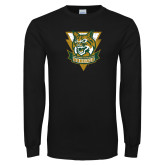 Black Long Sleeve T Shirt-Primary Athletic Mark Distressed
