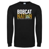 Black Long Sleeve T Shirt-Bobcat Nation