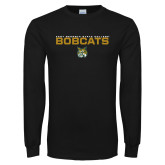 Black Long Sleeve T Shirt-East Georgia State Bobcats Stacked