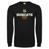 Black Long Sleeve T Shirt-Basketball Sharp Net