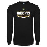 Black Long Sleeve T Shirt-Softball Plate Design