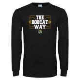 Black Long Sleeve T Shirt-The Bobcat Way