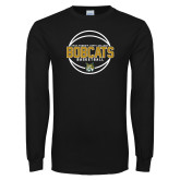 Black Long Sleeve T Shirt-East Georgia Basketball In Ball