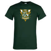 Dark Green T Shirt-Primary Athletic Mark Distressed