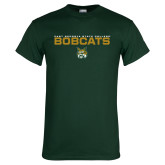 Dark Green T Shirt-East Georgia State Bobcats Stacked