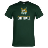 Dark Green T Shirt-Softball