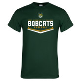 Dark Green T Shirt-Baseball Plate Design