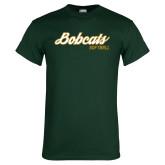 Dark Green T Shirt-Softball Script