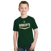 Youth Dark Green T Shirt-Baseball Plate Design