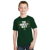 Youth Dark Green T Shirt-The Bobcat Way
