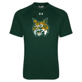 Under Armour Dark Green Tech Tee-Bobcat Head