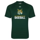 Under Armour Dark Green Tech Tee-Baseball