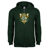 Dark Green Fleece Full Zip Hoodie-Primary Athletic Mark